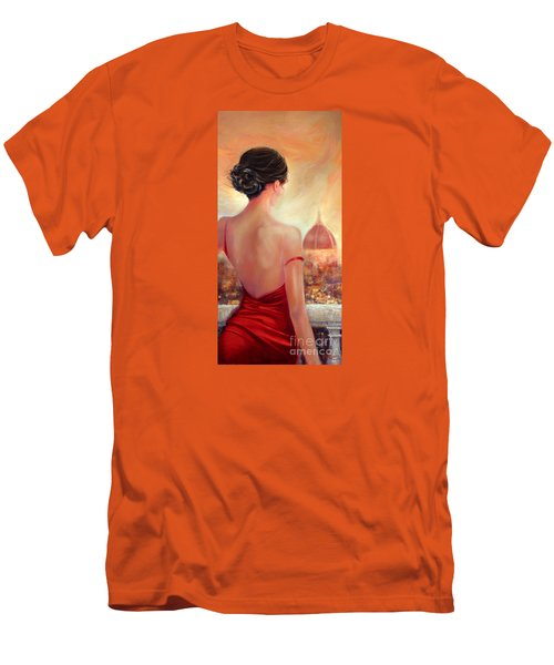 Evening In Florence Men's T-Shirt (Slim Fit) by Michael Rock