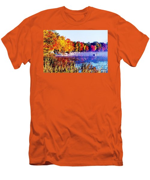 Men's T-Shirt (Slim Fit) featuring the photograph Fall Splendor Of Mid-michigan by Daniel Thompson