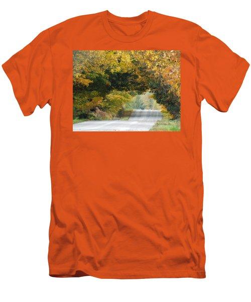 Falls Archway  Men's T-Shirt (Slim Fit) by Brenda Brown