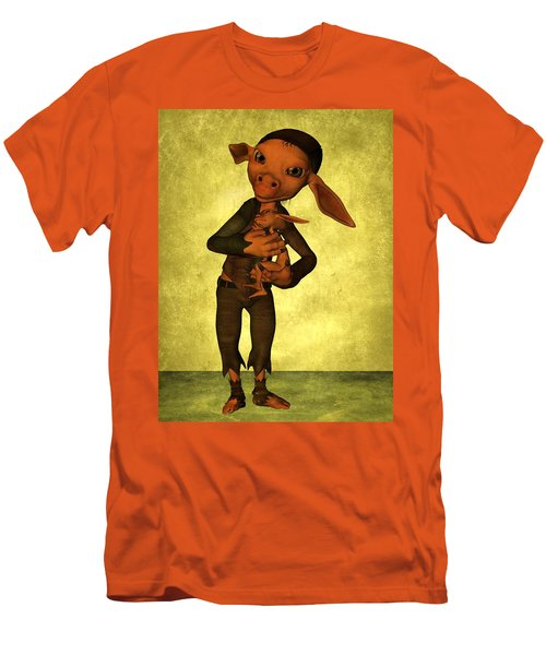 Men's T-Shirt (Slim Fit) featuring the digital art Father And Son by Gabiw Art