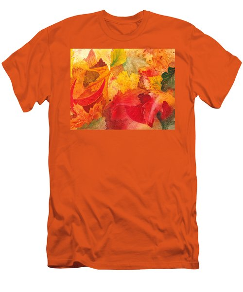 Men's T-Shirt (Athletic Fit) featuring the painting Feeling Fall by Irina Sztukowski