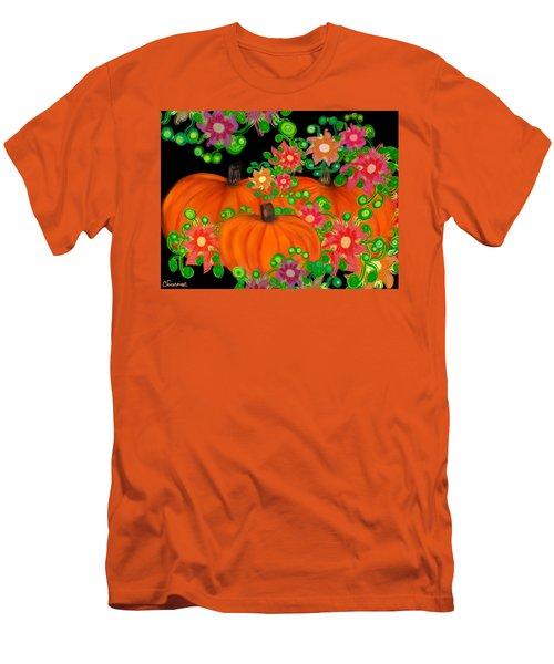 Fiesta Pumpkins Men's T-Shirt (Slim Fit) by Christine Fournier