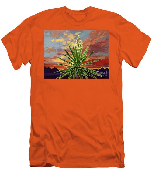 Fire Sky Desert Blooming Yucca Men's T-Shirt (Slim Fit)