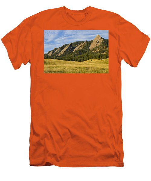 Flatiron Morning Light Boulder Colorado Men's T-Shirt (Athletic Fit)