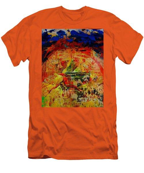 Free Bird Men's T-Shirt (Slim Fit) by Jean Cormier