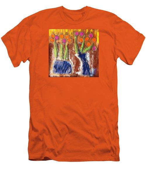 Floral Puffs Men's T-Shirt (Athletic Fit)