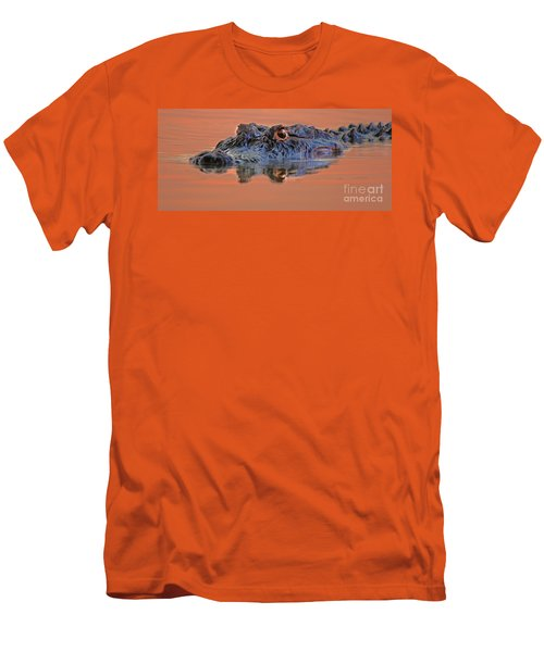 Men's T-Shirt (Slim Fit) featuring the photograph Alligator For Florida  by Luana K Perez