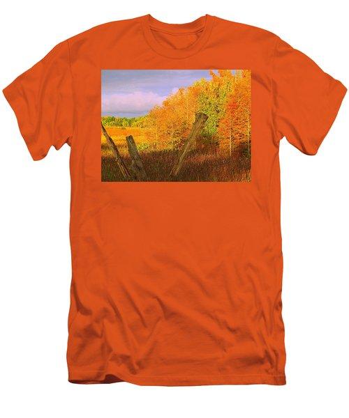 Florida Wetlands  Men's T-Shirt (Slim Fit) by David Mckinney