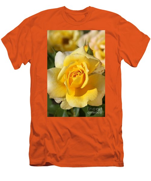 Flower-yellow Rose-delight Men's T-Shirt (Slim Fit) by Joy Watson
