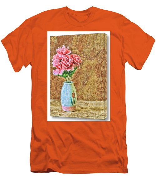 Flowers In Crayon- No Longer Available Men's T-Shirt (Athletic Fit)