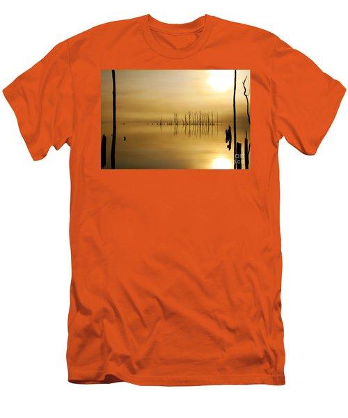 Foggy Rise Men's T-Shirt (Slim Fit) by Roger Becker