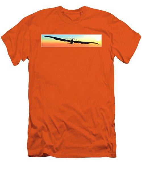 Men's T-Shirt (Slim Fit) featuring the digital art Free... by Tim Fillingim