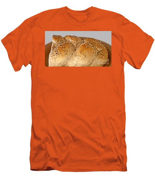 Fresh Challah Bread Art Prints Men's T-Shirt (Slim Fit) by Valerie Garner