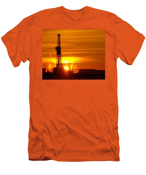 Frontier Nineteen Xto Energy Culbertson Montana Men's T-Shirt (Slim Fit) by Jeff Swan