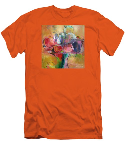 Men's T-Shirt (Slim Fit) featuring the painting Fruit Bowl No.1 by Michelle Abrams