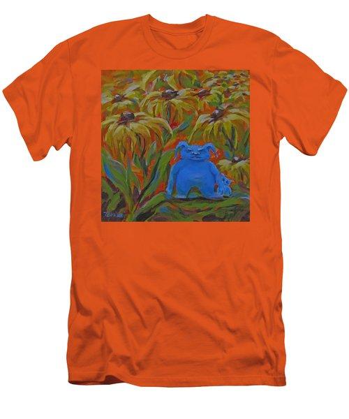 Men's T-Shirt (Slim Fit) featuring the painting Garden Secrets by Karen Ilari