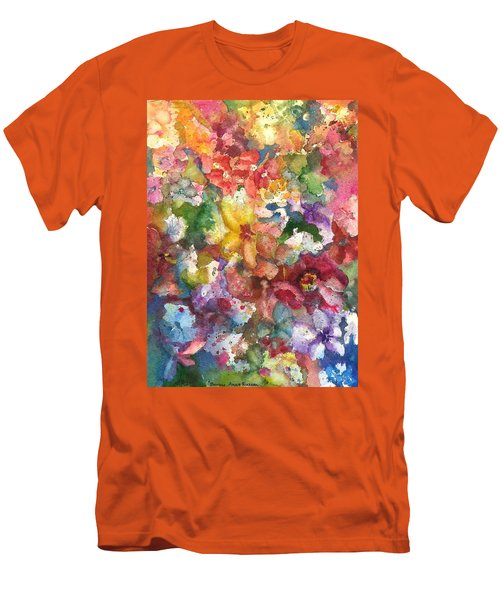 Garden - The Secret Life Of The Leftover Paint Men's T-Shirt (Slim Fit) by Anna Ruzsan