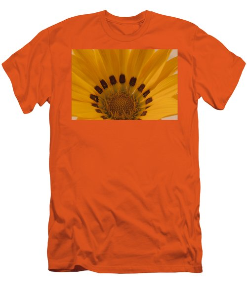 Men's T-Shirt (Slim Fit) featuring the photograph Gazania Stamen Macro by Sandra Foster