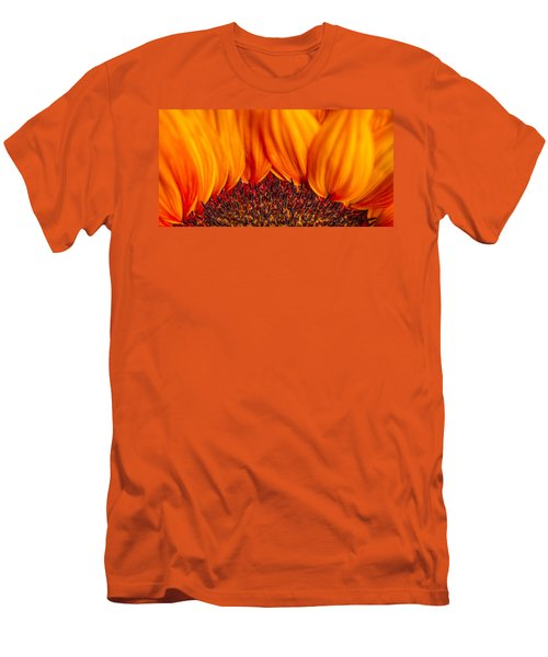 Men's T-Shirt (Athletic Fit) featuring the photograph Gerbera On Fire by Adam Romanowicz