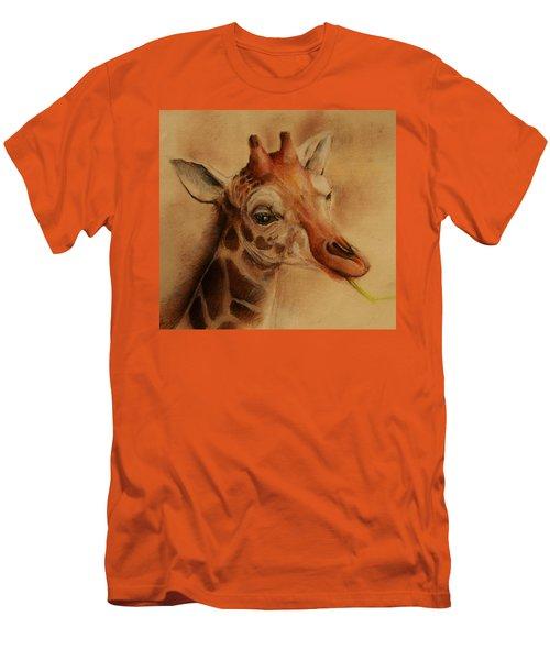 Giraffe Men's T-Shirt (Slim Fit) by Jean Cormier