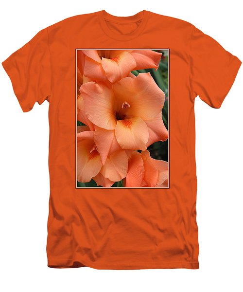 Gladiola In Peach Men's T-Shirt (Athletic Fit)