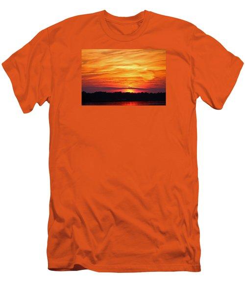 God Paints The Sky Men's T-Shirt (Slim Fit) by Cynthia Guinn