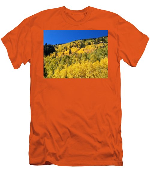 Men's T-Shirt (Slim Fit) featuring the photograph Going Gold by Fortunate Findings Shirley Dickerson