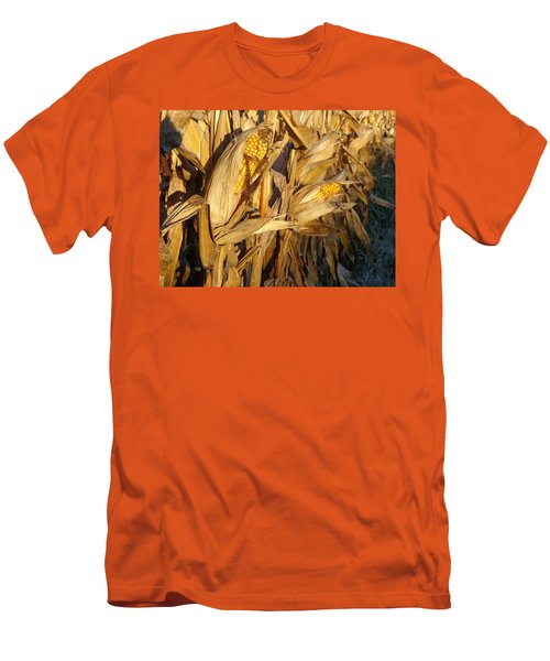 Men's T-Shirt (Slim Fit) featuring the photograph Golden Corn by Joseph Skompski