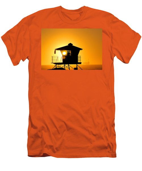 Golden Hour Men's T-Shirt (Slim Fit) by Tammy Espino