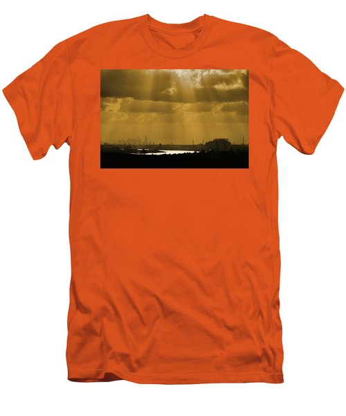 Golden Light Men's T-Shirt (Slim Fit) by Linda Unger