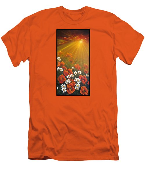 Golden Moment Men's T-Shirt (Slim Fit) by Katia Aho