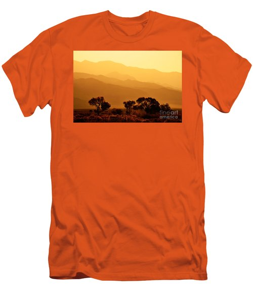 Golden Mountain Light Men's T-Shirt (Slim Fit) by David Lawson