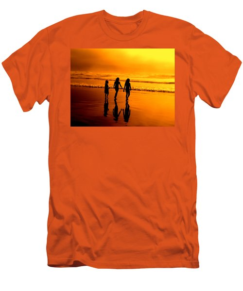 Men's T-Shirt (Slim Fit) featuring the photograph Golden Sands  by Micki Findlay