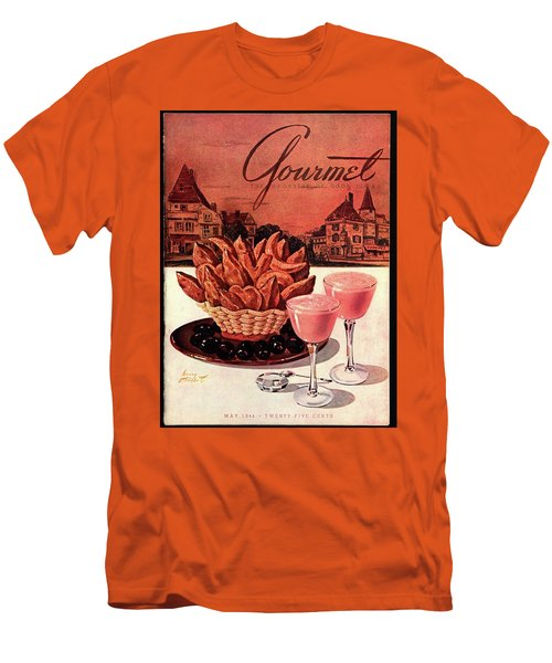 Gourmet Cover Featuring A Basket Of Potato Curls Men's T-Shirt (Slim Fit)