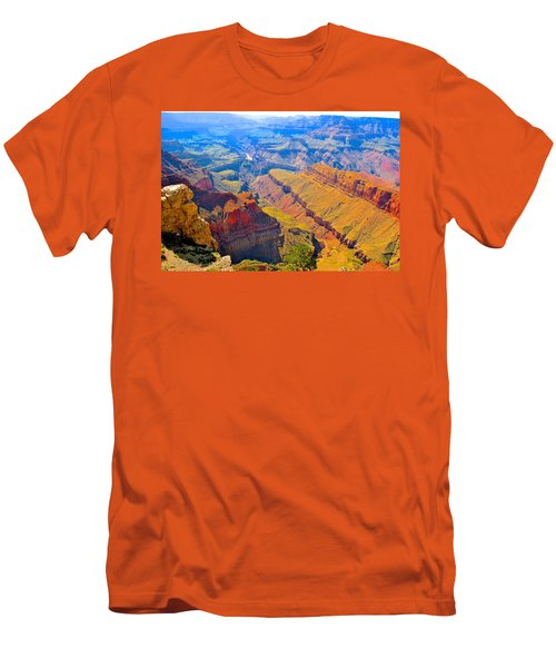 Grand Canyon In Vivid Color Men's T-Shirt (Athletic Fit)