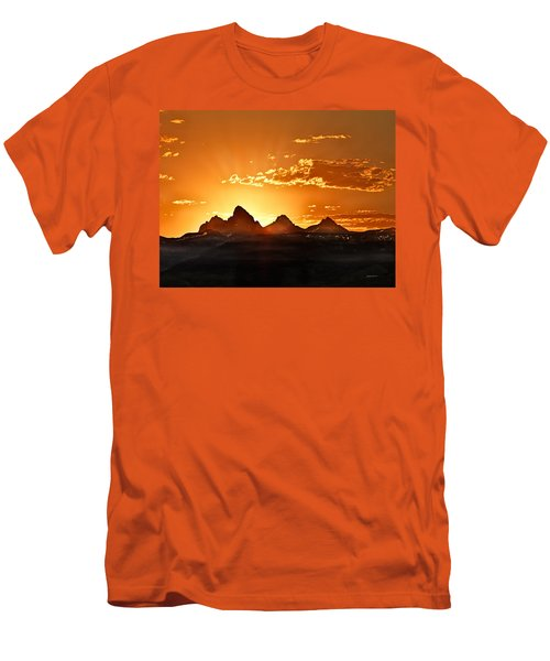 Grand Teton Sunrise Men's T-Shirt (Athletic Fit)