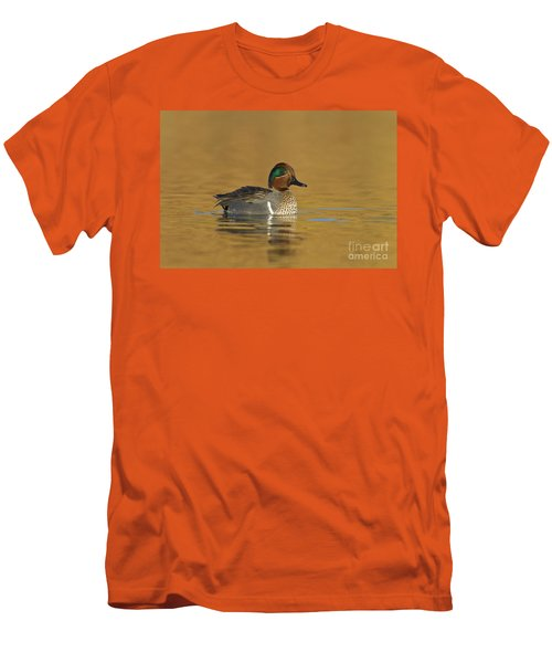 Green Wing Teal Men's T-Shirt (Athletic Fit)