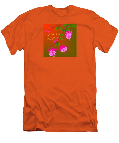 Men's T-Shirt (Slim Fit) featuring the digital art Happy Holidays by Latha Gokuldas Panicker