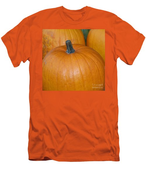 Men's T-Shirt (Slim Fit) featuring the photograph Harvest Pumpkins by Chalet Roome-Rigdon