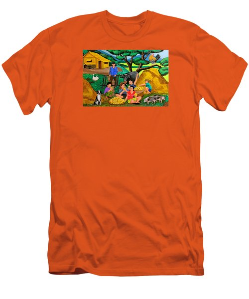Harvest Time Men's T-Shirt (Slim Fit) by Cyril Maza