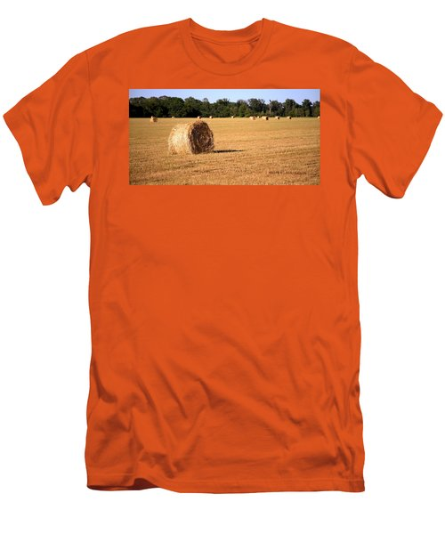 Men's T-Shirt (Slim Fit) featuring the photograph Harvest Time by Gordon Elwell