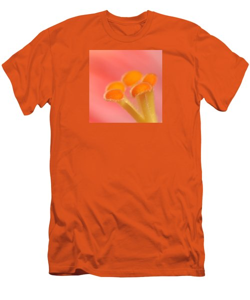 Men's T-Shirt (Slim Fit) featuring the photograph Hibiscus Center Macro by Chris Anderson