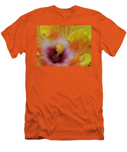 Men's T-Shirt (Slim Fit) featuring the photograph Hibiscus by Tam Ryan