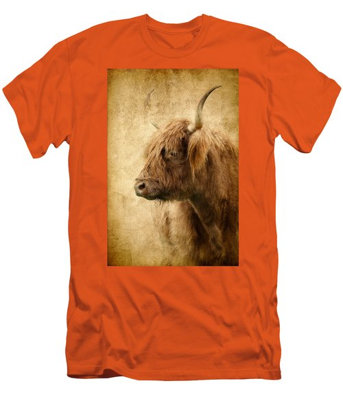 Highland Bull Men's T-Shirt (Slim Fit) by Athena Mckinzie