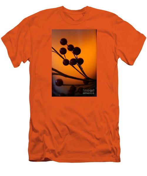 Men's T-Shirt (Slim Fit) featuring the photograph Holiday Warmth 3 by Linda Shafer