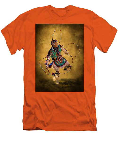Hooping His Heart Out Men's T-Shirt (Slim Fit) by Priscilla Burgers