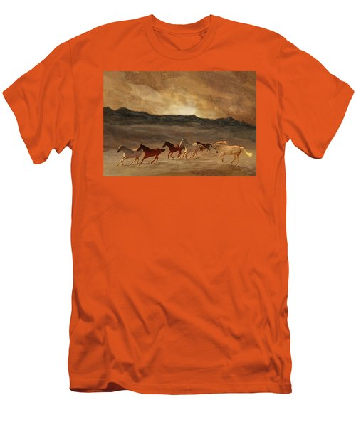 Horses Of Stone Men's T-Shirt (Slim Fit) by Melinda Hughes-Berland