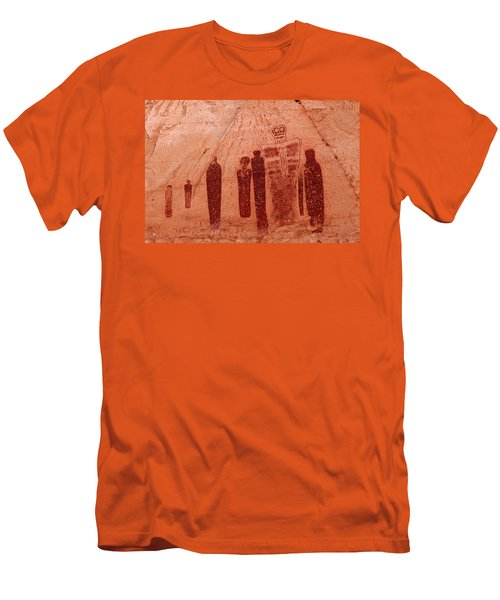 Horseshoe Canyon Pictographs Men's T-Shirt (Athletic Fit)
