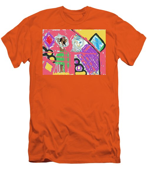 Hula Girl Under Paint Men's T-Shirt (Slim Fit) by Susan Stone