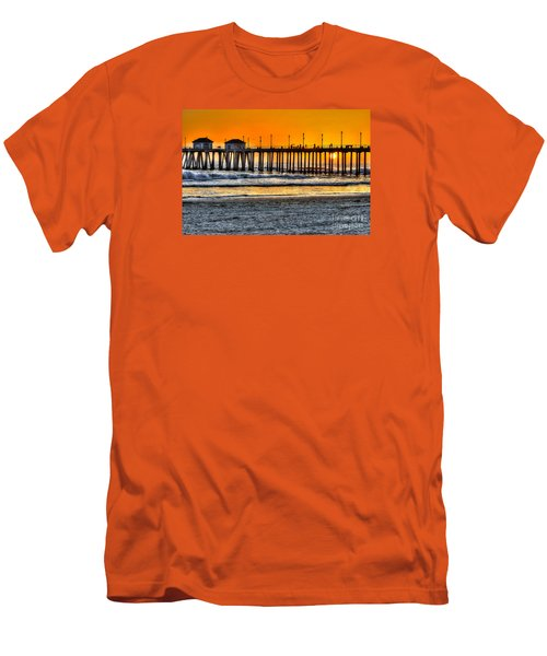Men's T-Shirt (Slim Fit) featuring the photograph Huntington Beach Sunset by Jim Carrell